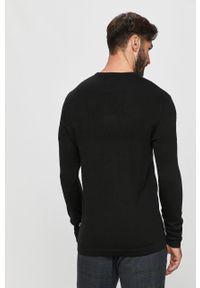 Czarny sweter Tailored & Originals casualowy, na co dzień, z długim rękawem, długi