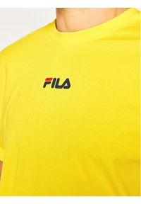 Fila T-Shirt Bender 687484 Żółty Regular Fit. Kolor: żółty #5
