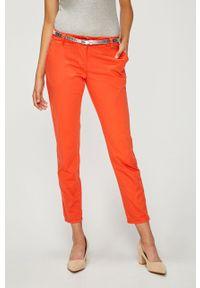 Pomarańczowe spodnie materiałowe ANSWEAR na co dzień, casualowe