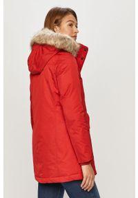 Czerwona kurtka TOMMY HILFIGER z kapturem, na co dzień, casualowa