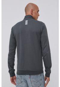 EA7 Emporio Armani - Bluza PJ05Z.8NPM01. Kolor: szary. Materiał: dzianina. Wzór: gładki