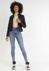 Born2be - Niebieskie Jeansy Skinny Ahor. Kolor: niebieski. Długość: długie #2