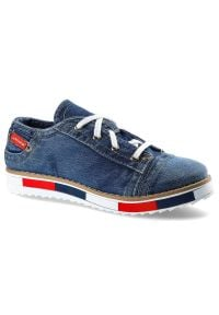 Lanqier - Półbuty LANQIER 40C221 Jeans. Materiał: jeans