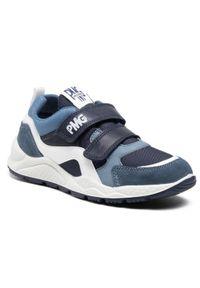 Primigi - Sneakersy PRIMIGI - 7385022 D Azz. Okazja: na spacer, na co dzień. Zapięcie: rzepy. Kolor: niebieski. Materiał: skóra, zamsz, materiał. Szerokość cholewki: normalna. Styl: casual