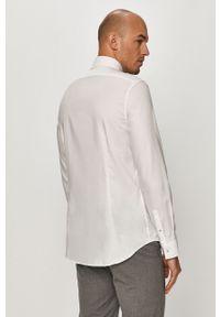 Biała koszula Calvin Klein z długim rękawem, z klasycznym kołnierzykiem, klasyczna