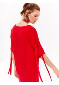 Czerwona sukienka DRYWASH casualowa, na co dzień, na wiosnę