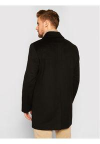 Roy Robson Płaszcz wełniany 3980-98 Czarny Slim Fit. Kolor: czarny. Materiał: wełna
