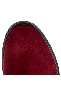 Czerwone botki Baldaccini na średnim obcasie, z cholewką, na obcasie