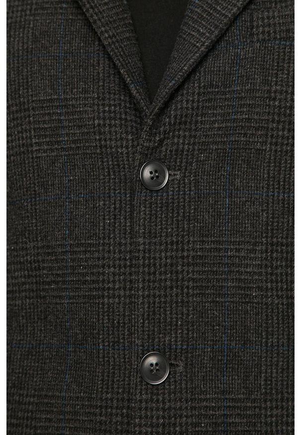 Szary płaszcz Tailored & Originals bez kaptura, klasyczny, na co dzień