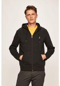 Czarna bluza rozpinana Polo Ralph Lauren z kapturem, casualowa