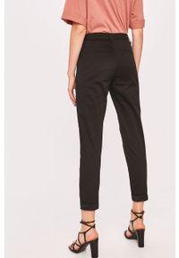 Czarne spodnie materiałowe ANSWEAR z podwyższonym stanem, wakacyjne