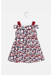 Czerwona sukienka Mayoral mini, na ramiączkach
