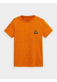 Pomarańczowy t-shirt 4f