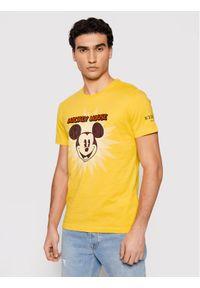 Iceberg T-Shirt 21EI1P0F0166301 Żółty Slim Fit. Kolor: żółty