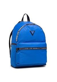 Niebieska torba na laptopa Guess sportowa