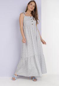 Born2be - Jasnoniebieska Sukienka Nailia. Kolor: niebieski
