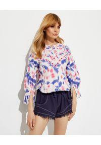 ISABEL MARANT - Bluzka z haftowanym zdobieniem Camity. Kolor: biały. Wzór: haft, aplikacja