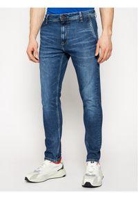 Pepe Jeans Jeansy Stan PM205899 Granatowy Tappered Fit. Kolor: niebieski