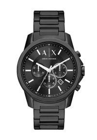 Armani Exchange - Zegarek AX1722. Kolor: czarny. Materiał: materiał