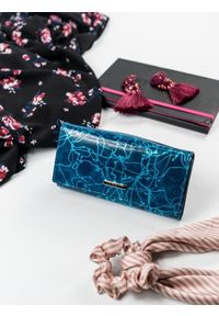Niebieski portfel LORENTI