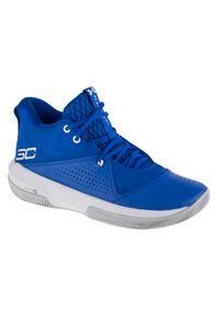Niebieskie buty do koszykówki Under Armour z cholewką