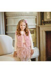 LaVashka Spódnica Fru Fru 17F-B D Różowy Regular Fit. Kolor: różowy