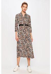 Wielokolorowa sukienka Calvin Klein prosta, na co dzień