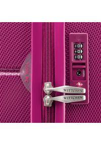 Różowa walizka Wittchen w kolorowe wzory