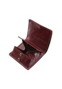 Wittchen - Damski portfel ze skóry lakierowany mały. Kolor: czerwony. Materiał: lakier, skóra