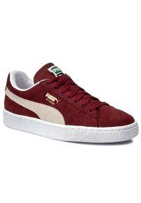 Czerwone buty sportowe Puma z cholewką, Puma Suede