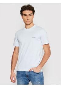 Calvin Klein T-Shirt Chest Logo K10K103307 Niebieski Regular Fit. Kolor: niebieski
