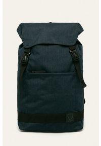 Strellson - Plecak. Kolor: niebieski. Wzór: paski