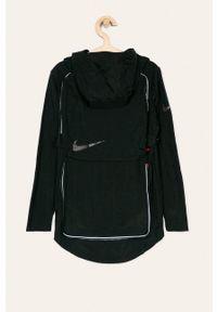 Czarna kurtka Nike Kids casualowa, na co dzień, z kapturem