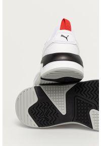 Białe sneakersy Puma z okrągłym noskiem, z cholewką