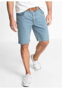 """Bermudy dżinsowe z elastycznym paskiem po bokach Classic Fit bonprix niebieski """"bleached"""". Kolor: niebieski"""