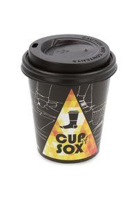 Fioletowe skarpetki Cup of Sox w kolorowe wzory