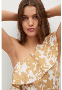 Sukienka mango na co dzień, rozkloszowana, casualowa