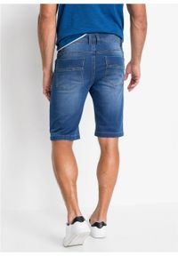 Fioletowe jeansy bonprix z obniżonym stanem