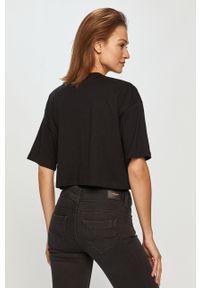 Czarna bluzka Pepe Jeans na co dzień, gładkie
