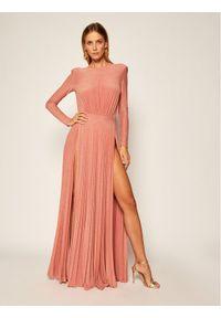 Różowa sukienka wieczorowa Elisabetta Franchi