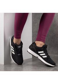 Czarne buty sportowe Adidas z cholewką, na co dzień, Adidas ZX