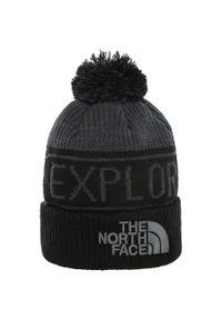 Czarna czapka The North Face retro, na zimę