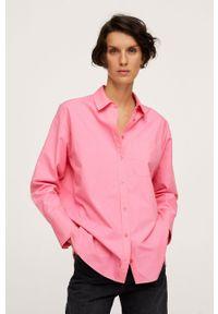 mango - Mango - Koszula bawełniana Bej. Okazja: na co dzień. Kolor: różowy. Materiał: bawełna. Długość rękawa: długi rękaw. Długość: długie. Styl: casual