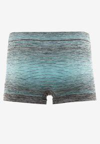 Born2be - Jasnoniebieskie Majtki Baccite. Kolor: niebieski. Materiał: tkanina. Długość: krótkie. Wzór: nadruk