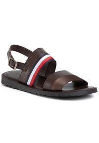 Brązowe sandały TOMMY HILFIGER na lato