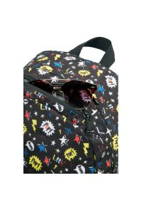 Czarny plecak AMERICAN TOURISTER w kolorowe wzory