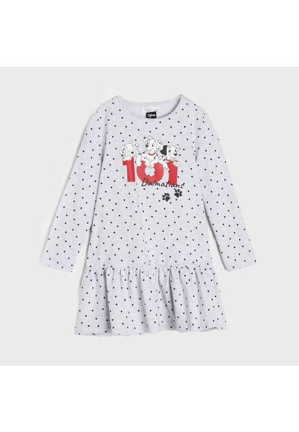Sinsay - Sukienka 101 Dalmatyńczyków - Jasny szary. Kolor: szary
