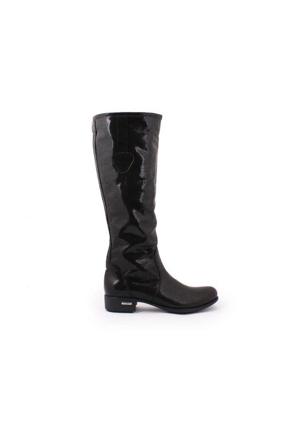 Czarne kozaki Zapato klasyczne, na co dzień, z cholewką przed kolano
