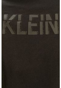 Czarny t-shirt Calvin Klein Jeans z aplikacjami, casualowy