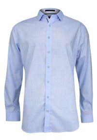 Niebieska elegancka koszula Rey Jay melanż, długa, z długim rękawem